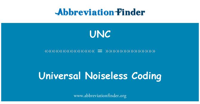 UNC: Universal Noiseless Coding
