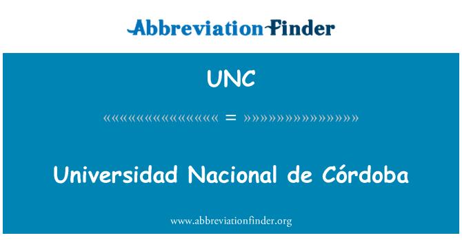 UNC: Universidad Nacional de Córdoba