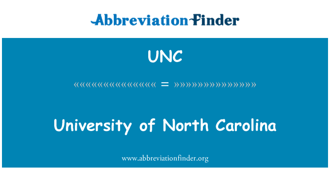 UNC: Universidad de Carolina del norte