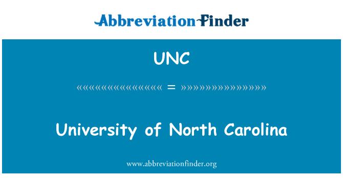 UNC: University of North Carolina