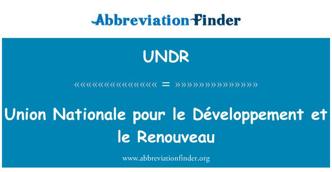 UNDR: Union Nationale pour le Développement et le Renouveau