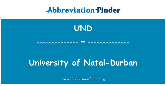 UND: University of Natal-Durban