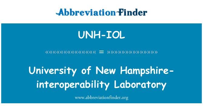 UNH-IOL: New Hampshire Üniversitesi-çalışabilirlik Laboratuvarı