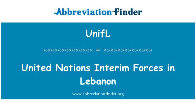UnifL: United Nations Interim Forces in Lebanon