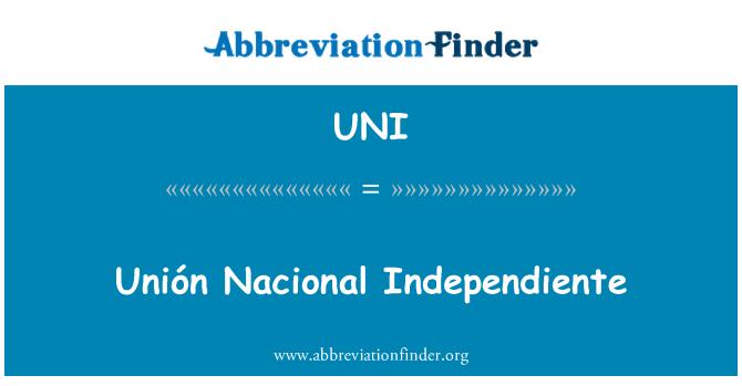 UNI: Unión Nacional Independiente