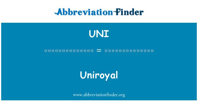 UNI: Uniroyal