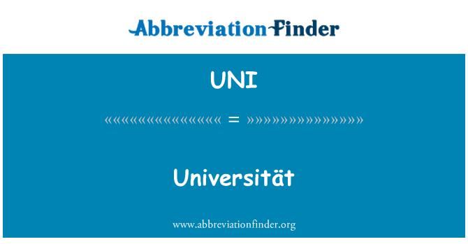 UNI: Universität