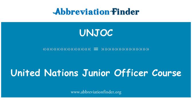 UNJOC: United Nations Junior Officer Course