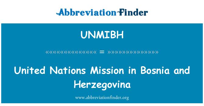 UNMIBH: Birleşmiş Milletler misyonu Bosna Hersek