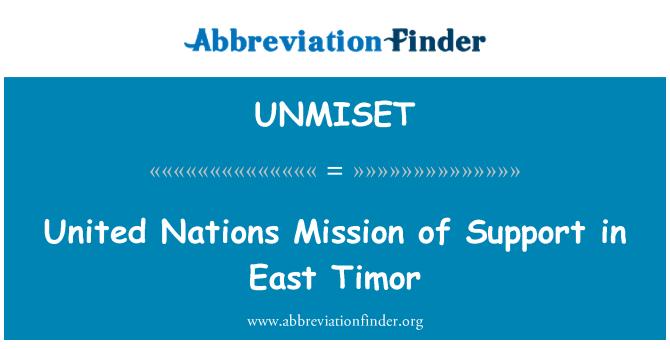 UNMISET: Misión de las Naciones Unidas de apoyo en Timor Oriental