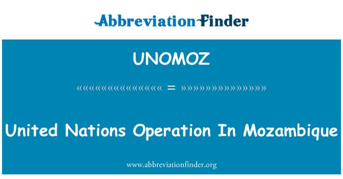 UNOMOZ: Birleşmiş Milletler işlemi Mozambik