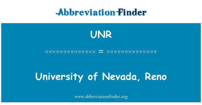 UNR: University of Nevada, Reno