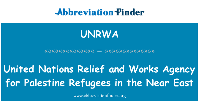 UNRWA: United Nations Relief and Works Agency for Palestine Refugees in the Near East