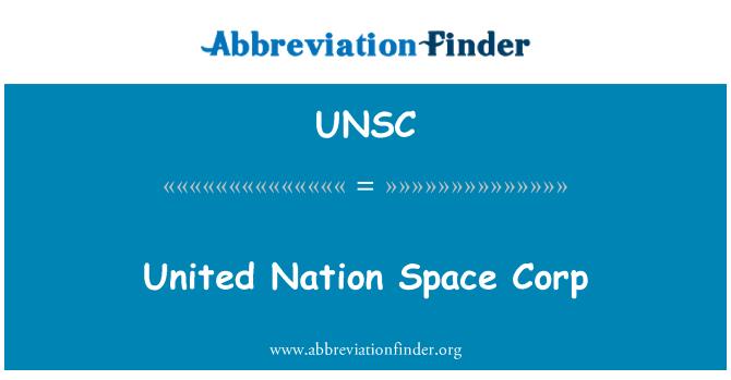 UNSC: Ameerika rahvas ruumi Corp