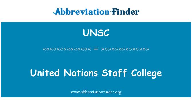 UNSC: Ühinenud Rahvaste Organisatsiooni personali College