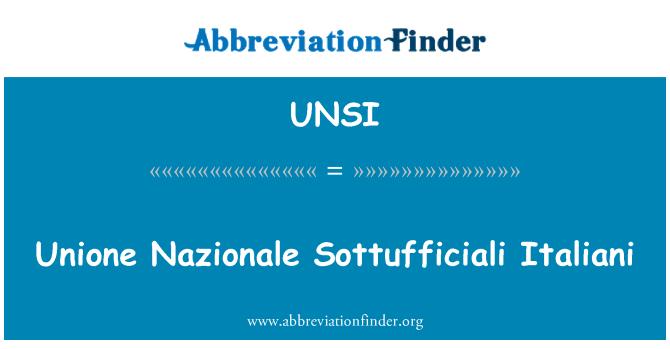 UNSI: Unione Nazionale Sottufficiali Italiani