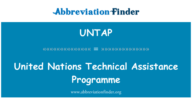 UNTAP: United Nations Technical Assistance Programme