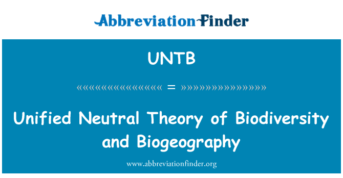 UNTB: Unified Neutral Theory of Biodiversity and Biogeography