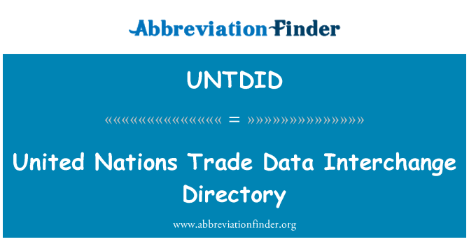 UNTDID: United Nations Trade Data Interchange Directory