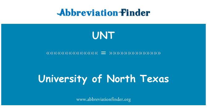 UNT: University of North Texas