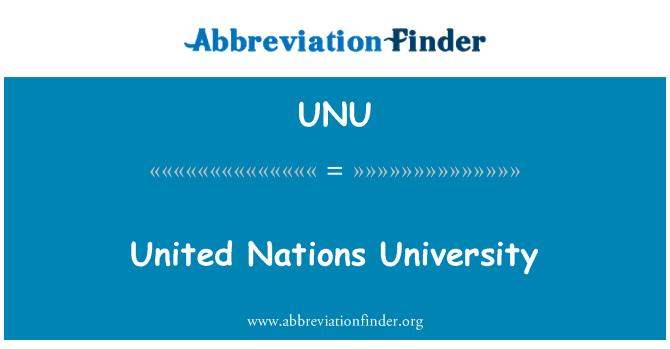 UNU: Universidad de las Naciones Unidas