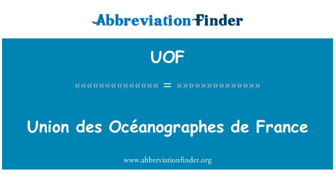 UOF: Union des Océanographes de France
