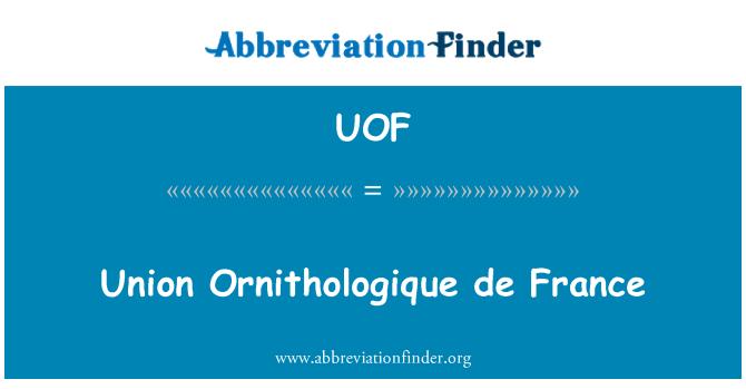 UOF: Unión Ornithologique de France