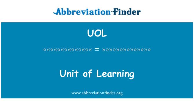 UOL: Unidad de aprendizaje