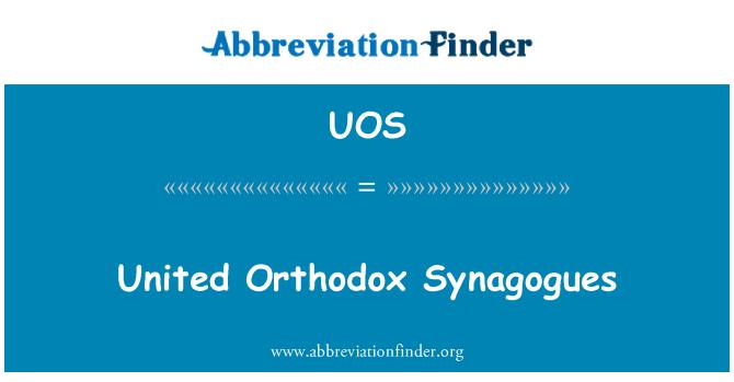 UOS: Unidos sinagogas ortodoxas