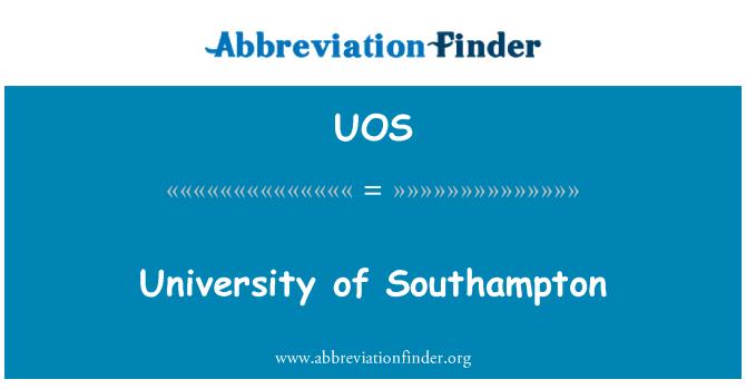 UOS: University of Southampton