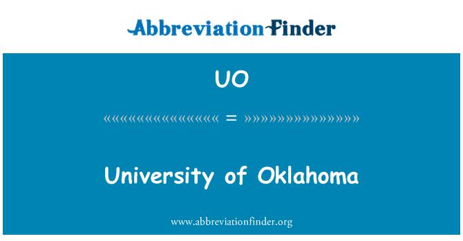 UO: University of Oklahoma