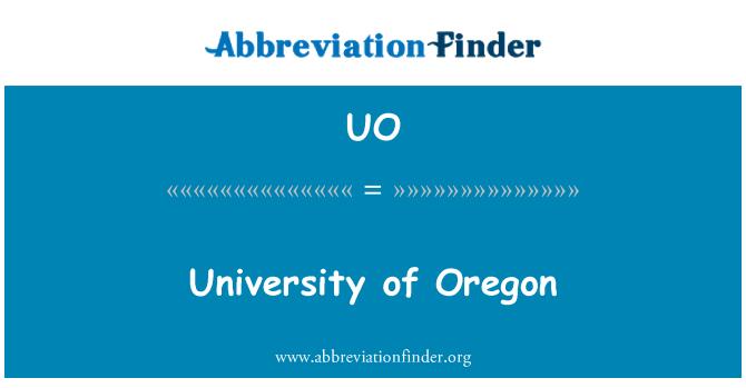 UO: University of Oregon.