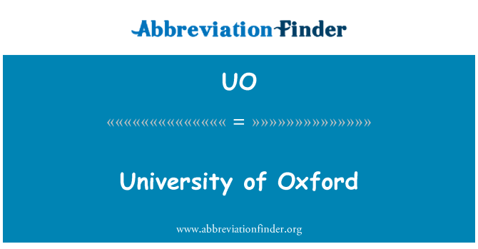 UO: University of Oxford