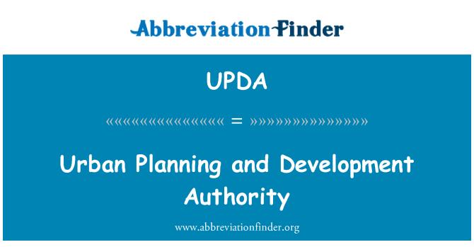 UPDA: Urban Planning and Development Authority