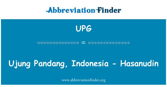 UPG: Ujung Pandang, Indonesia - Hasanudin