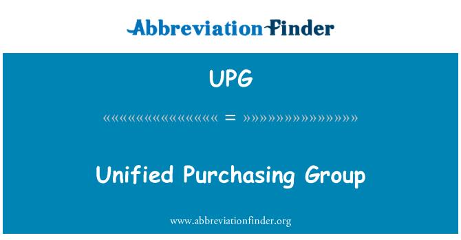 UPG: Unificado de compra de grupo