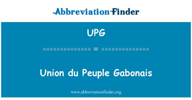 UPG: Union du Peuple Gabonais