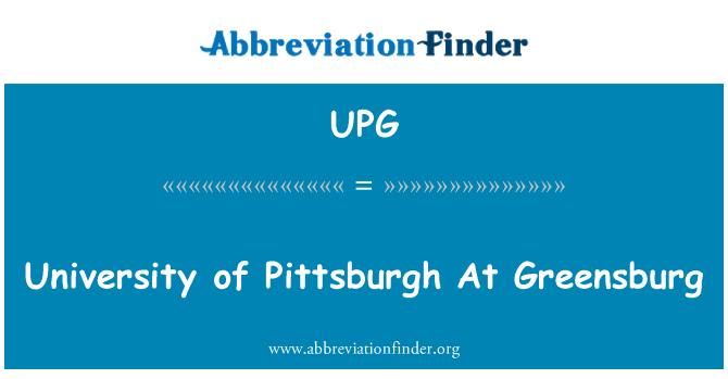 UPG: Universidad de Pittsburgh en Greensburg
