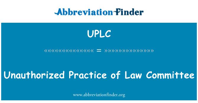 UPLC: Volitamata tava õiguse komitee
