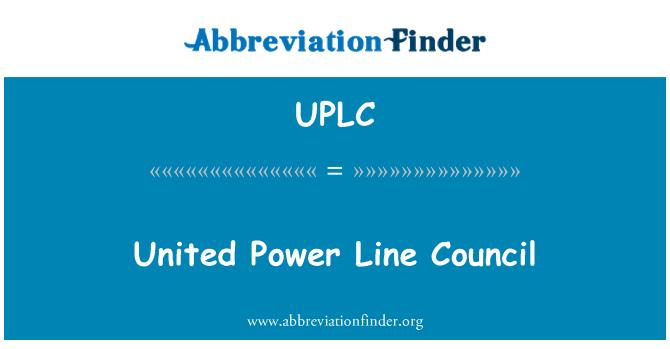 UPLC: Birleşik güç hattı Konseyi