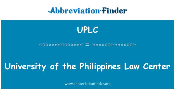 UPLC: Üniversite Filipinler hukuk Merkezi