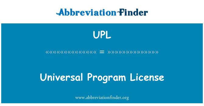 UPL: Universal Program License