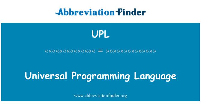 UPL: Universal Programming Language