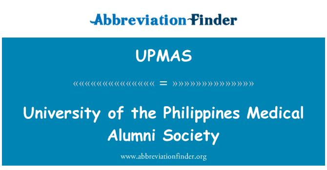 UPMAS: University of the Philippines Medical Alumni Society