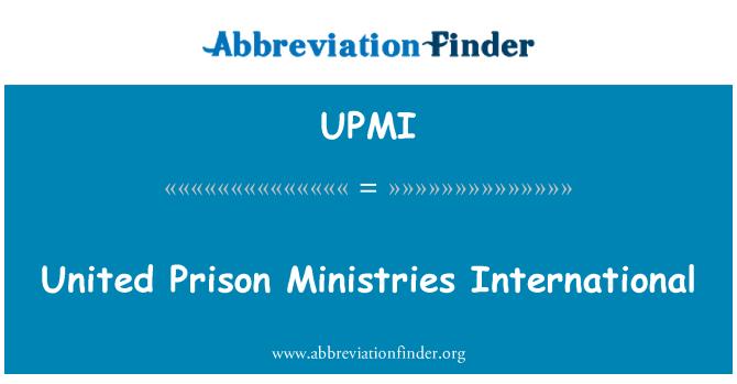 UPMI: United Prison Ministries International