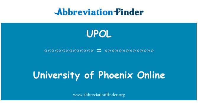 UPOL: University of Phoenix Online
