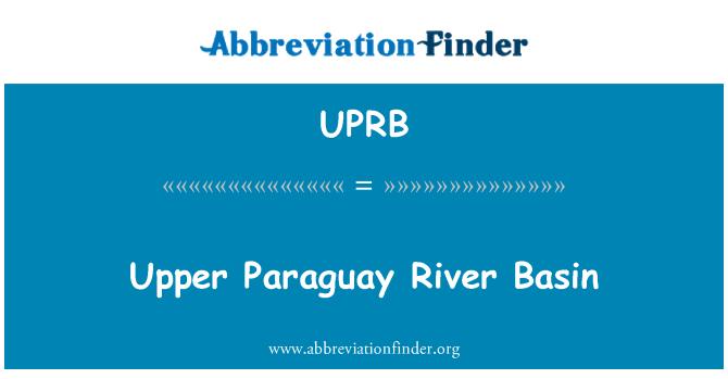 UPRB: Cuenca superior del río Paraguay