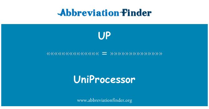 UP: Monoprocesador