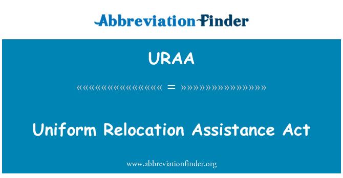 URAA: Uniform Relocation Assistance Act