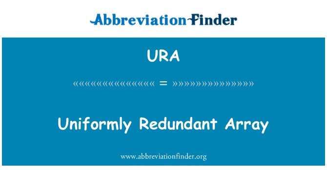 URA: Uniformly Redundant Array